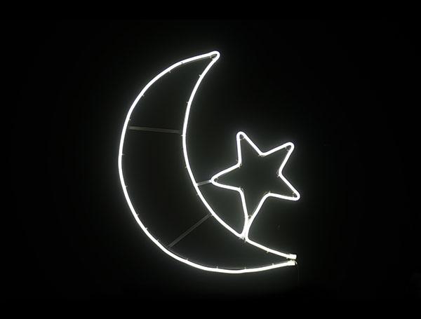 Star moon white