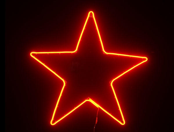The five-pointed star is red